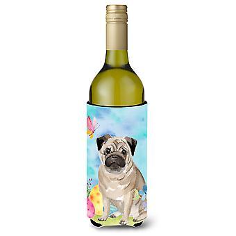 Krypende pug påske vinflaske avslag isolator hugger
