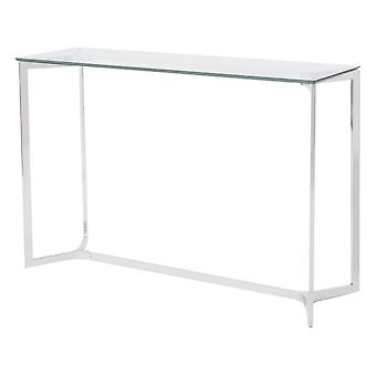 Libra Furniture Stainless Steel And Glass Console Table