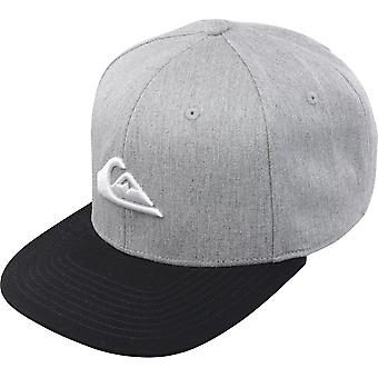 Quiksilver Mens Chompers Snapback Hat - Medium Gray Heather