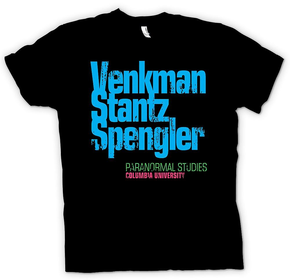 Mens T-shirt - Venkman- Stantz - Spengler - Paranormal Studies