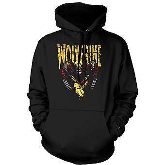 Mens Hoodie - Wolverine - klassisk komisk hjälte