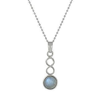 Eternal Collection June Moonstone Birthstone Sterling Silver Pendant