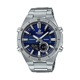 Casio Edifice Slim Style Blue Dial Silver Stainless Steel Quartz Men's Watch ERA-110D-2AVEF