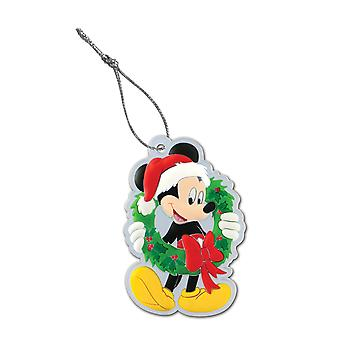 PVC Key Chain - Disney - Mickey Mouse Wreath Soft Touch 24881