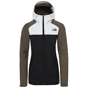 The North Face zwart/nieuw taupe GRN Womens Stratos jas