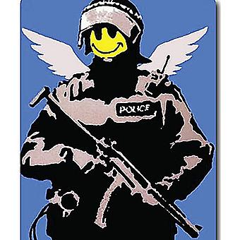 Banksy Smiley Police drinks mat / coaster   (2f)