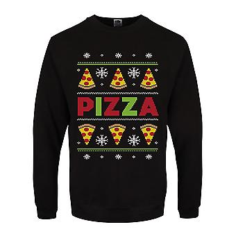 Grindstore Mens Pizza Party Christmas Jumper