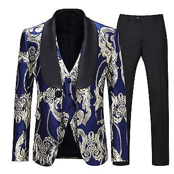 Allthemen Men's Shawl Collar 3-Pieces Banchetto di nozze Tuxedos Suit Blazer&Pants&Vest