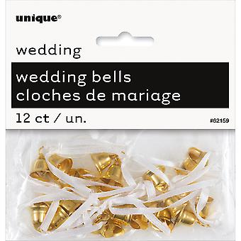 Wedding Bells 12/Pkg-Gold WB621-62159