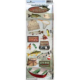 Paper House Cardstock Stickers Gone Fishing Stcx 96
