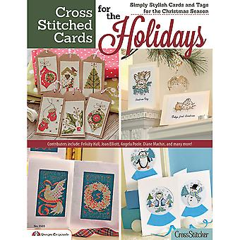 Design Originals Cross Stitched Cards For The Holidays Do 13805