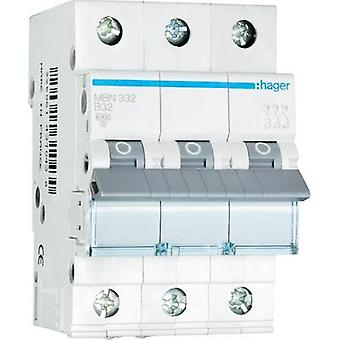 Circuit breaker 3-pin 32 A Hager MBN332