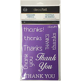 Deco Foil Stencils-Thanks DFS-5503