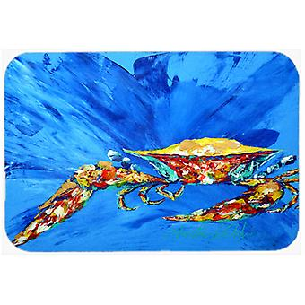 Big Spash Crab in blue Mouse Pad, Hot Pad or Trivet MW1163MP