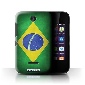 STUFF4 Case/Cover for Nokia Asha 230/Brazil/Brazilian/Flags