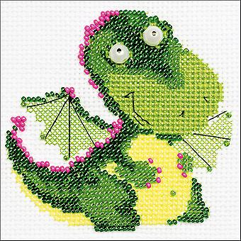 Little Dragon Counted Cross Stitch Kit-4