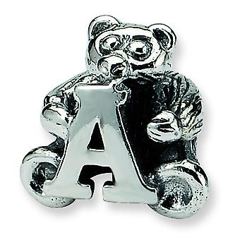 Sterling Silver Reflections Kids Letter A Bead Charm