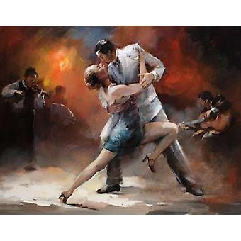 Tango Argentino IV Poster trykk av Willem Haenraets
