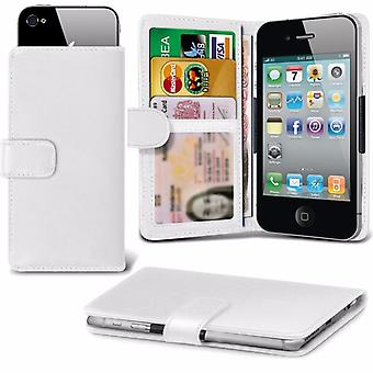 iTronixs - UMI Plus (5.5 inch) Case Clamp Style Wallet Protective PU Leather Case Cover - White