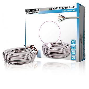König network cable on the reel CAT6 F/UTP Gray Fixed