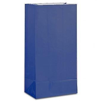 Paper Party bags - Dark Blue - pack of 12