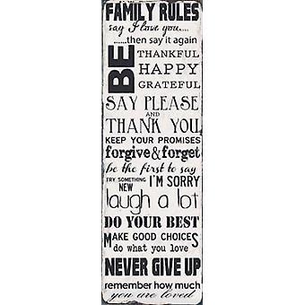 FAMILIEN regler Poster trykk av Taylor Greene