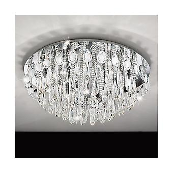 Eglo CALAONDA Crystal Clear Semi Flush Ceiling Light D760mm