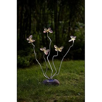 Konstsmide 5 Butterfly Garden Ornaments Solar Lights