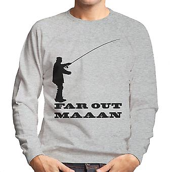 Far Out Man Fishing Men's Sweatshirt