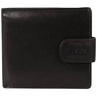 Dents Leather Coin Pocket Bill-Fold Wallet - Black