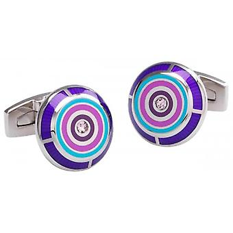 Duncan Walton Flux Cufflinks - Purple/Silver