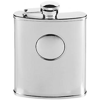 Orton oeste 6oz acero inoxidable Hip Flask - plata