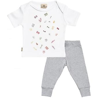 Spoilt Rotten SR Jumble Baby T-Shirt & Baby Jersey Trousers Outfit Set