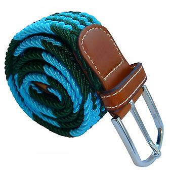 Bassin and Brown Jagged Stripe Woven Belt - Green/Blue