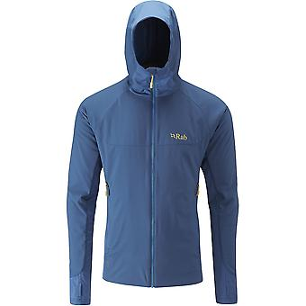 Rab Mens Alpha Flux Jacket Ink/Ink/Merlin (Medium)