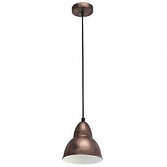 Eglo Single Hanging Light E27 KUPFER-ANTIK 'TRURO'