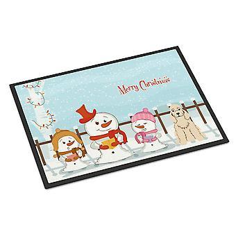 Merry Christmas Carolers Cocker Spaniel Buff Indoor or Outdoor Mat 18x27