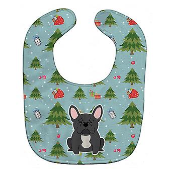 Carolines Treasures  BB4674BIB Christmas French Bulldog Black Baby Bib