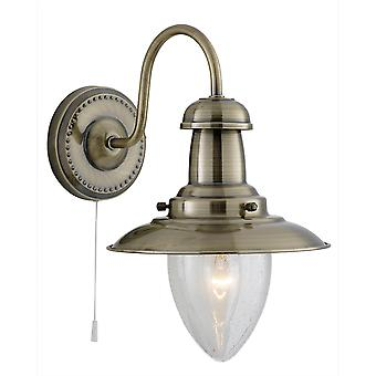Searchlight 5331-1AB Fisherman Antique Brass Wall Light