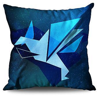 Origami Bird Linen Cushion Origami Bird | Wellcoda