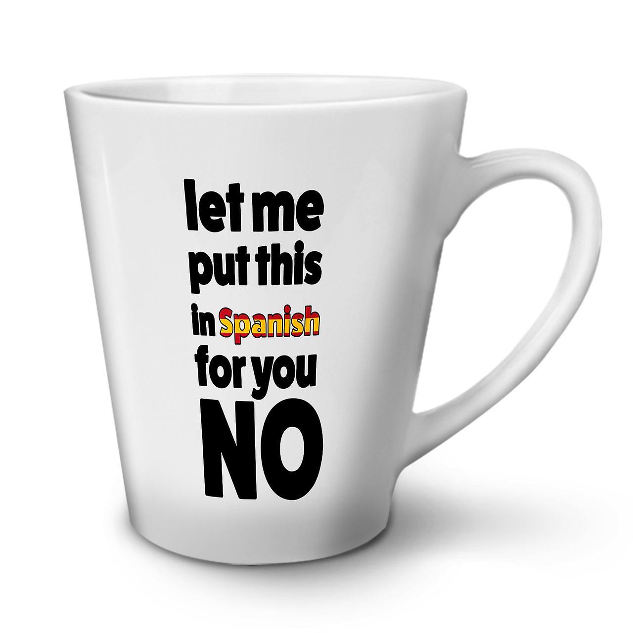 En Café Latte Pas Tasse Blanche 12 Espagnol De Nouveau Thé OzWellcoda Céramique Les 5jLA4R