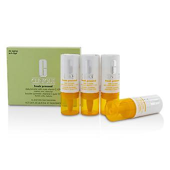 Clinique Fresh Pressed Daily Booster with Pure Vitamin C 10% - All Skin Types - 4x8.5ml/0.29oz