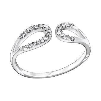 Drop - 925 Sterling Silver Jewelled Rings - W29244X