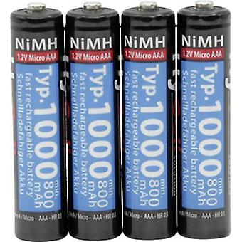 AAA battery (rechargeable) NiMH HyCell HR03 1000 mAh