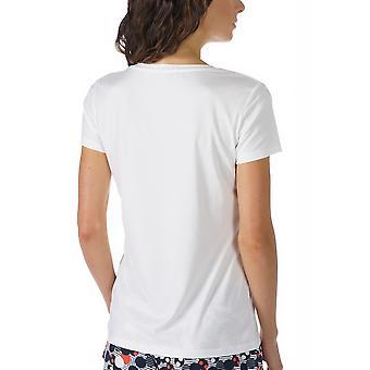 メイ 16824 405 女子 Night2Day オフホワイトの固体色のパジャマ パジャマ トップ