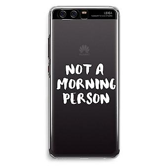 Huawei P10 Transparent Cover (Soft) - Morning person