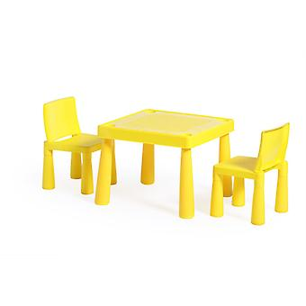 Seating 1xTisch 2 x chairs durable kids furniture set seat trim kids yellow