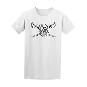 Pirate Symbol With Swords Tee Men's -Image by Shutterstock