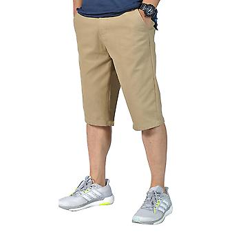 Mens Relaxed fit Belted Casual chino shorts Light Coffee