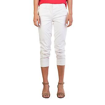 Miu Miu Women's Cotton Trouser Pants Cream White